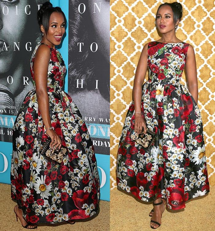 Kerry-Washington-Dolce-Gabbana-Poppy-Daisy-Print-Dress-1