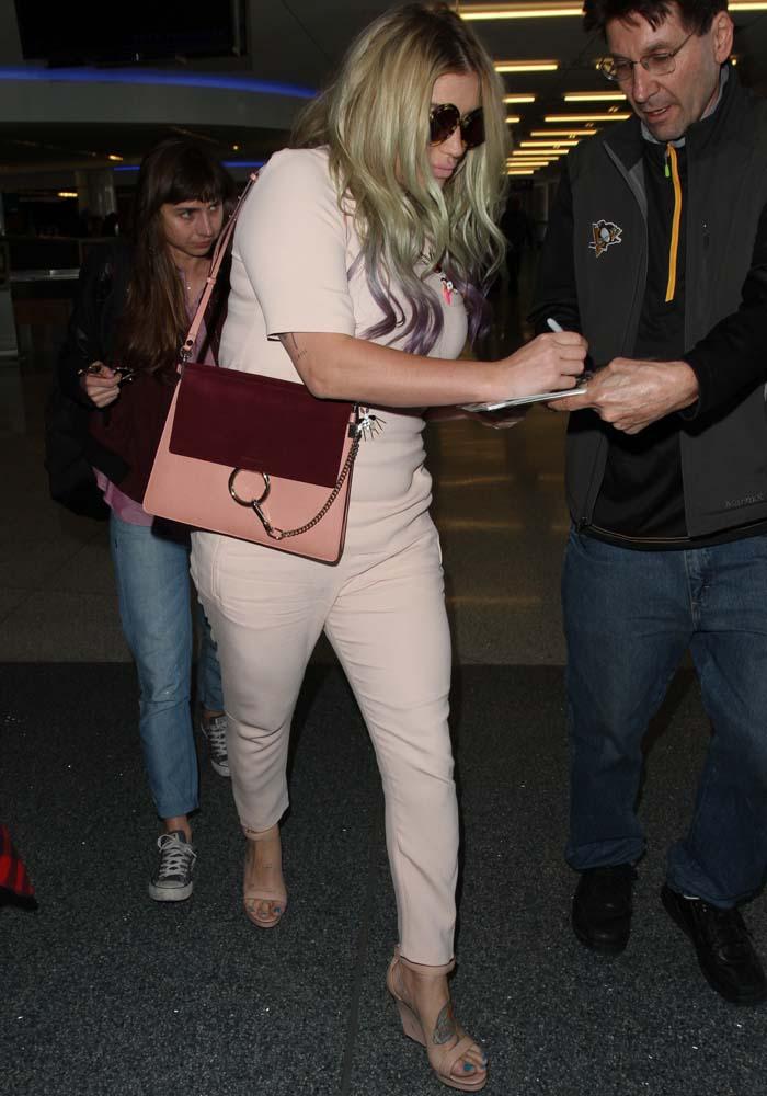 Kesha's ankle zip pants
