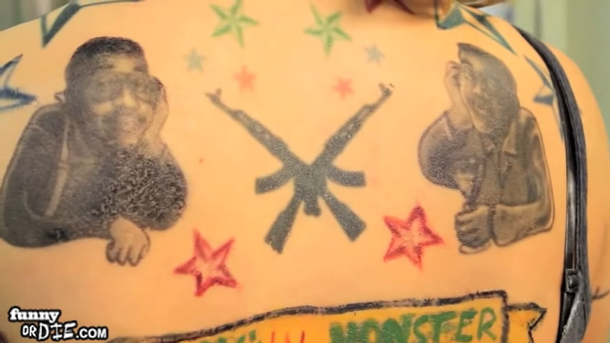 Pictures of Kristen Bell wearing tattoos on almost every area of her body went viral in 2021