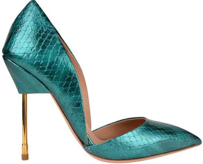 Kurt Geiger Bond Metallic Snake