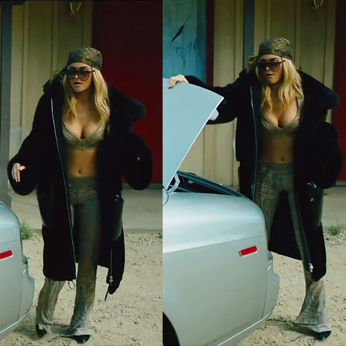 Kylie Jenner black suede pumps lip kit commercial