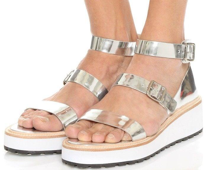 Loeffler Randall Pia Wedge Sandals