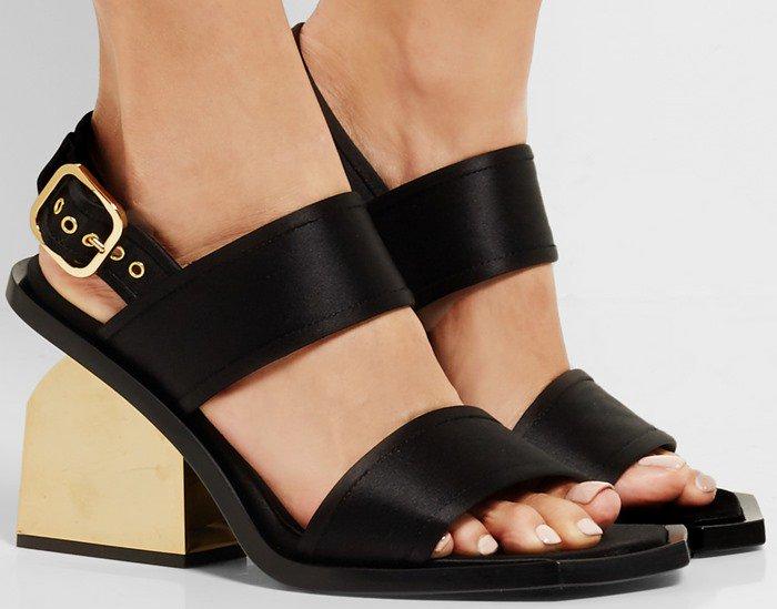 Marni Satin slingback sandals