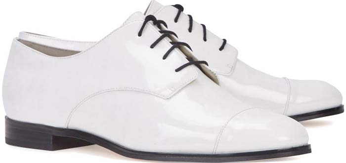 Michael Kors Pierce White Patent Oxford