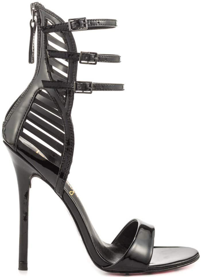 Miss Skully - Black Patent Lea Taylor Says Sandals