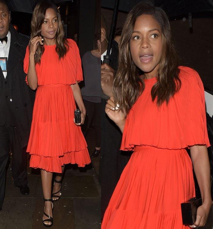 Naomie-Harris-Kate-Spade-New-York-Orange-Dress