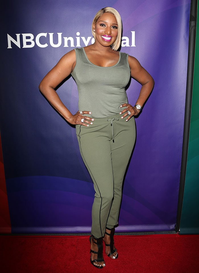 Nene Leakes put her shapely figure on full display in a sporty ensemble from her eponymous collection