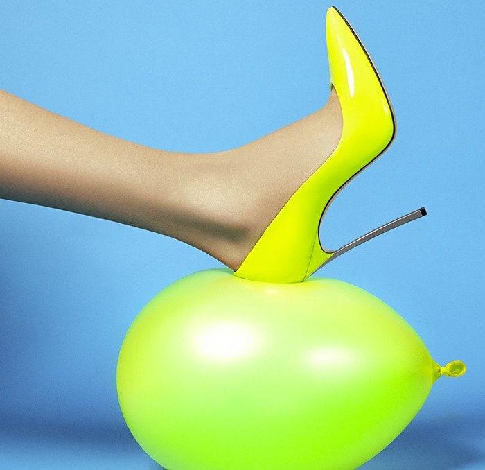 Neon Yellow Casadei Heels
