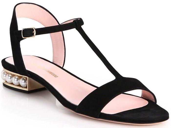 Nicholas Kirkwood Casati flat sandals black suede