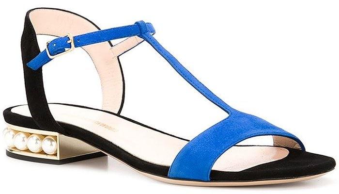 Nicholas Kirkwood Casati flat sandals blue black