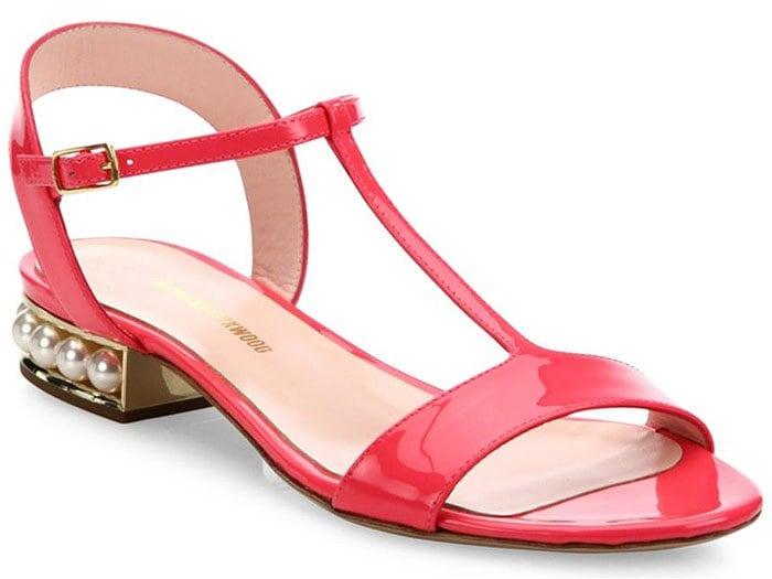 Nicholas Kirkwood Casati flat sandals blush