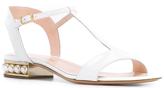 Nicholas Kirkwood Casati flat sandals white