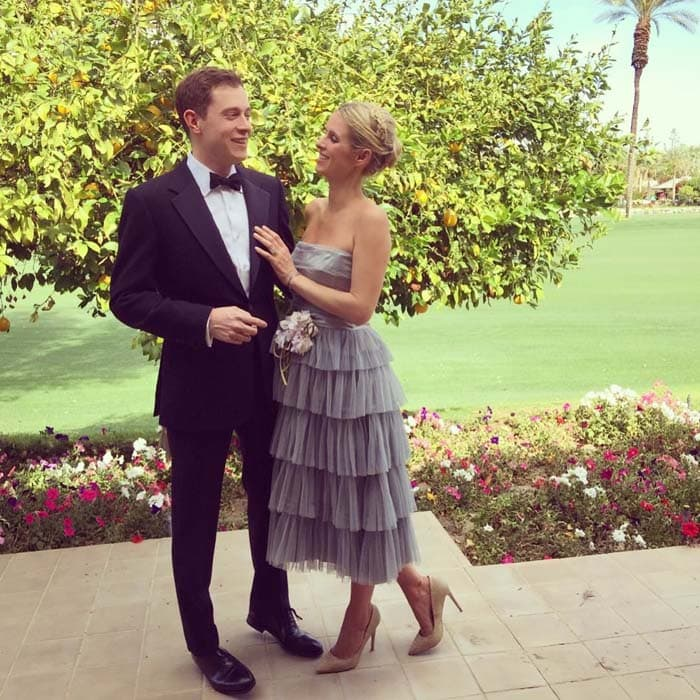 Nicky Hilton uploaded an Easter photo of her and husband James Rothschild all dressed up