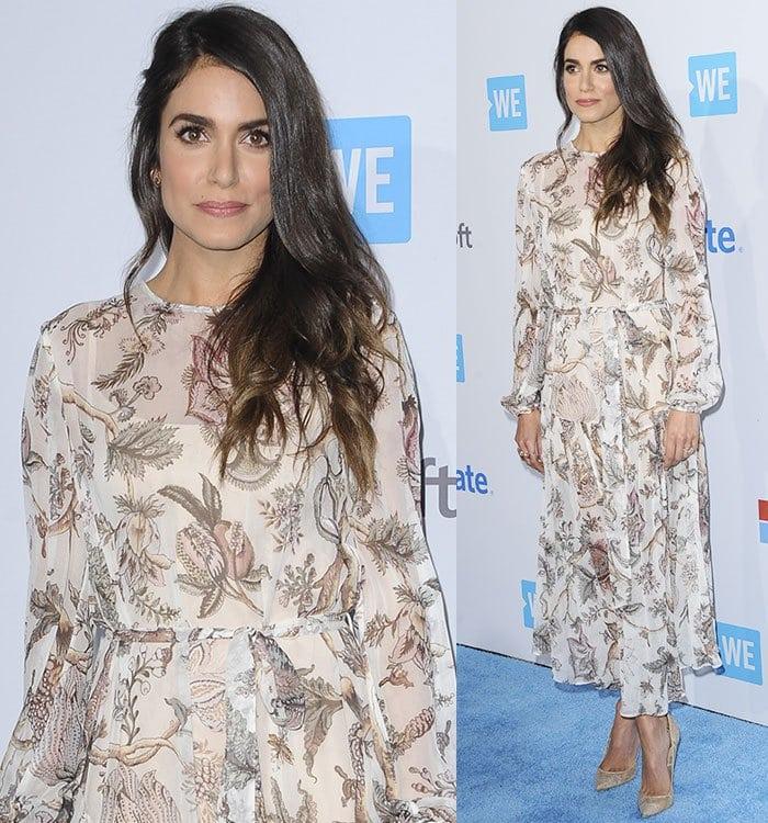Nikki-Reed-Zimmermann-floral-printed-dress