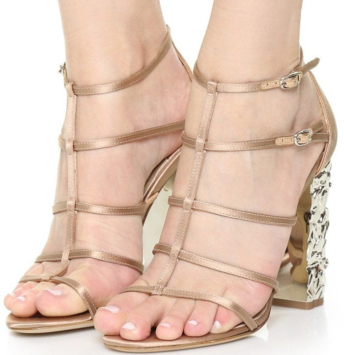 Paul Andrew Oralie Sandals in Blush