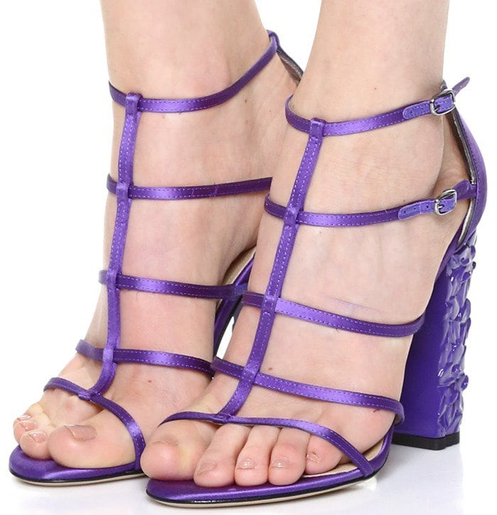 Paul Andrew Oralie Sandals in Purple