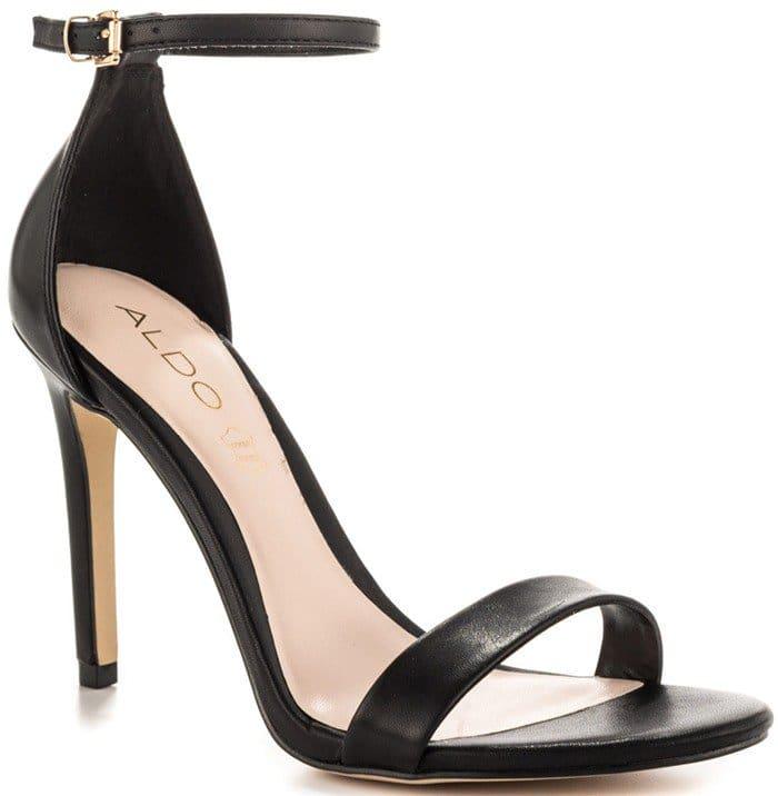Aldo Paules Dress Heels Black Leather