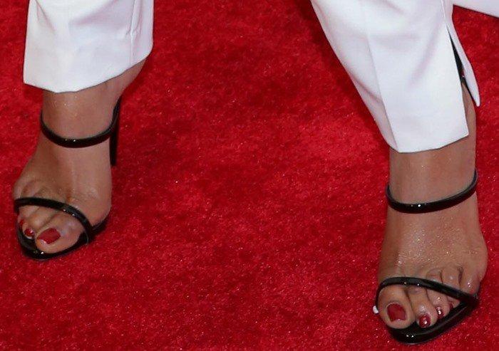 Priyanka Chopra in black Giuseppe Zanotti sandals