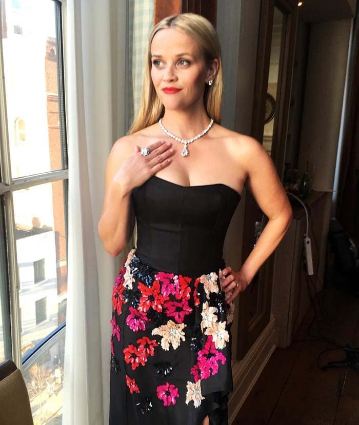 Reese Witherspoon Tiffany Co Blue Book Jimmy Choo IG 2