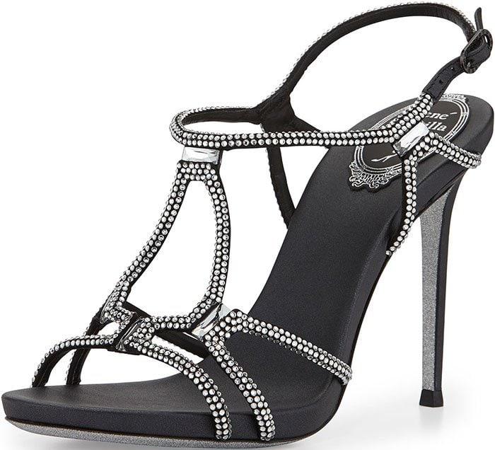 Rene-Caovilla-Strappy-Crystal-Black-Satin-Sandals