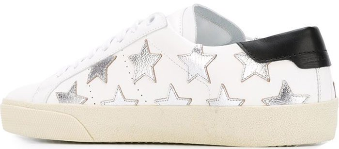 Saint-Laurent-Court-Classic-Metallic-&-Leather-Star-Sneakers