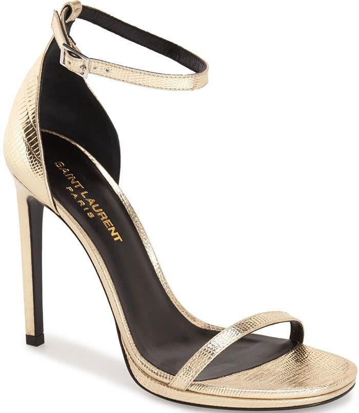 Saint-Laurent-Jane-Ankle-Wrap-Sandals-Gold