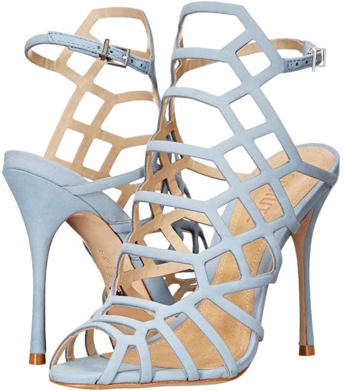 "Schutz ""Juliana"" Cage Leather Sandals"