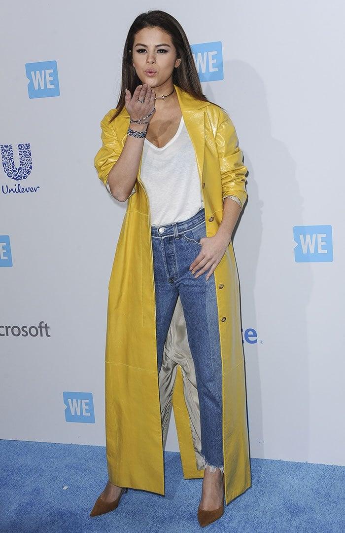 Selena-Gomez-We-Day-California-Yellow-Coat