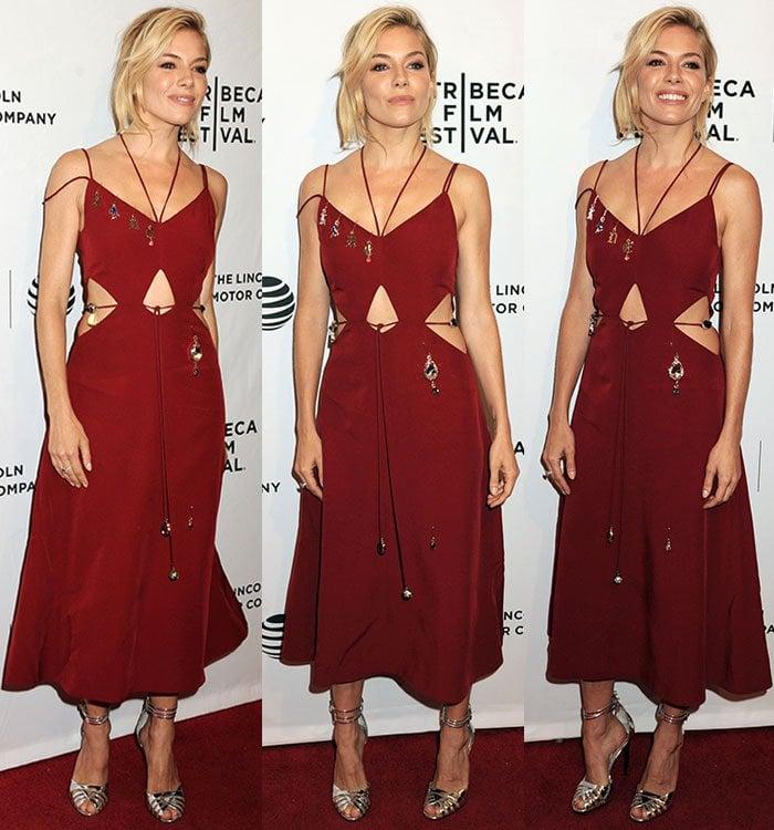 Sienna-Miller-Christopher-Kane-embellished-cutout-red-dress-1