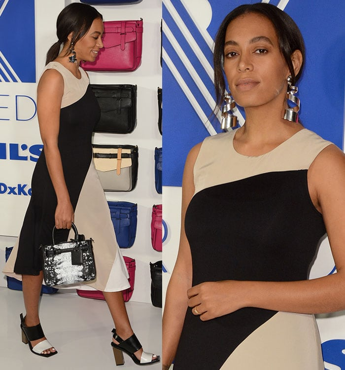 Solange-Knowles-Reed-Kohl's-Asymmetrical-Colorblock-Maxi-Dress
