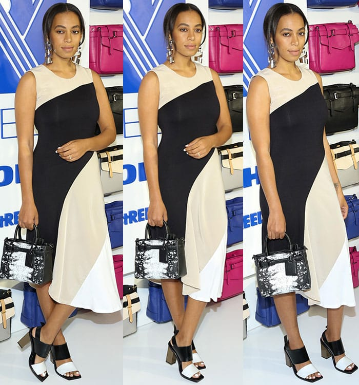 Solange-Knowles-Reed-Kohl's-Asymmetrical-Dress-Bag