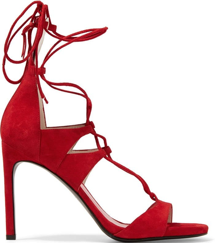Stuart-Weitzman-Leg-Wrap-Lace-Up-Sandals-Red