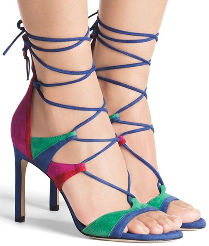 Stuart Weitzman 'Legwrapsong' Strappy Sandals