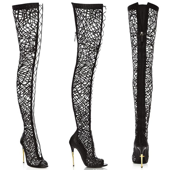 Tom Ford Lacey Lace-Up Thigh Boots