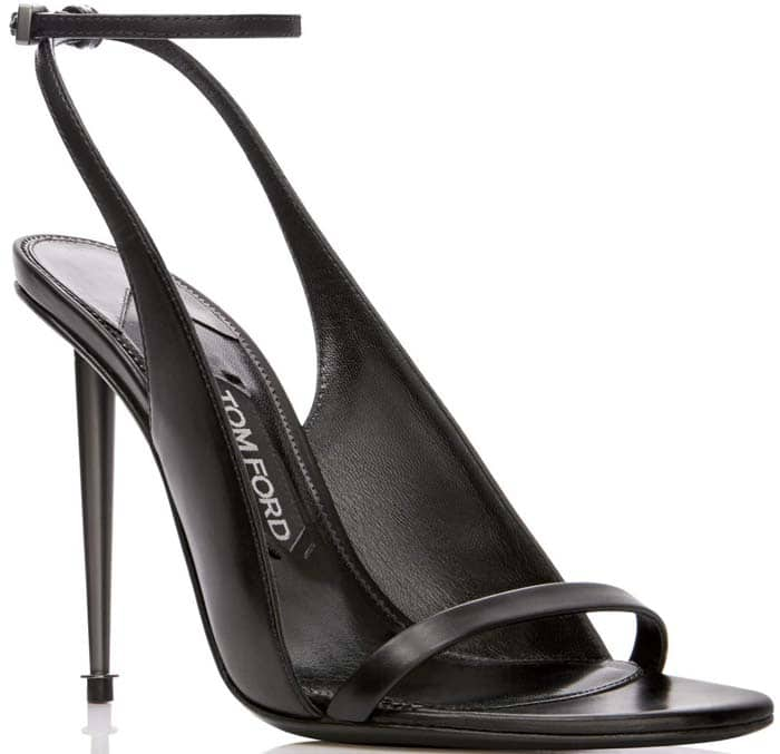 Tom Ford Spike Heel Sandal Black