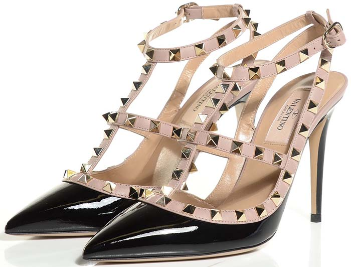 Valentino Rockstud Sandals Patent