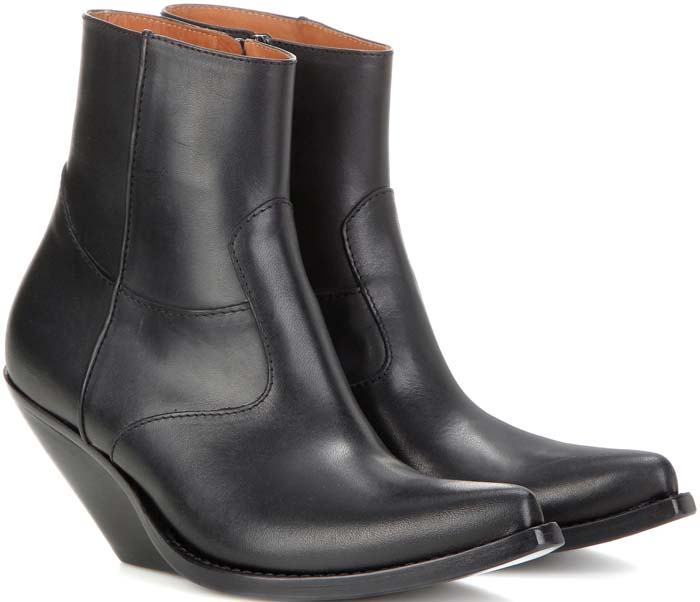 Vetements Slanted Heel Cowboy Boots