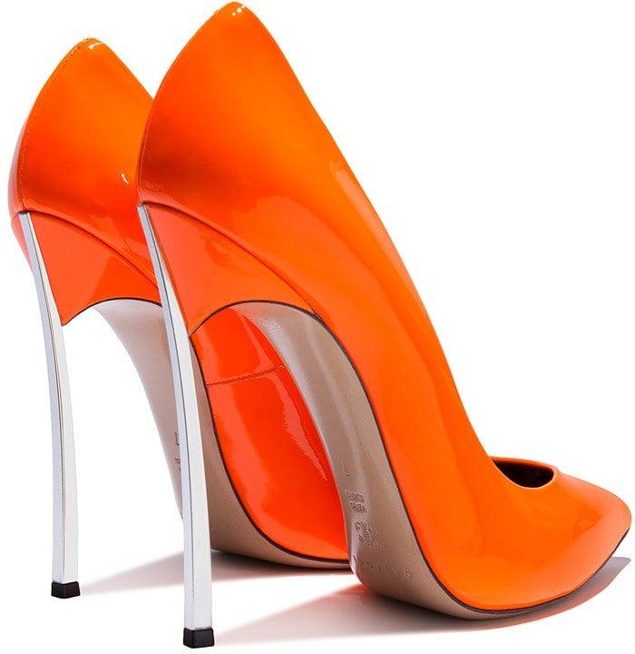 neon-orange 'Blade' pump