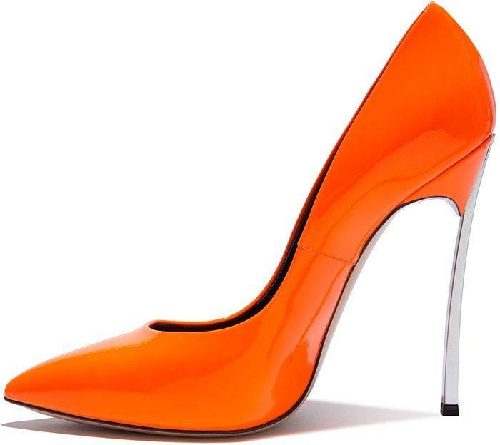 neon-orange iconic 'Blade' pumps