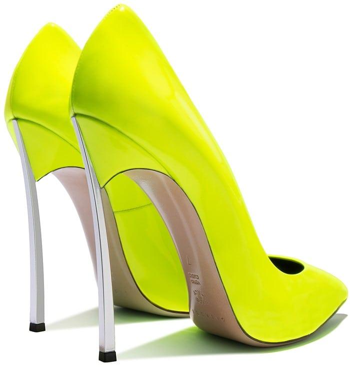 neon-yellow 'Blade' pumps
