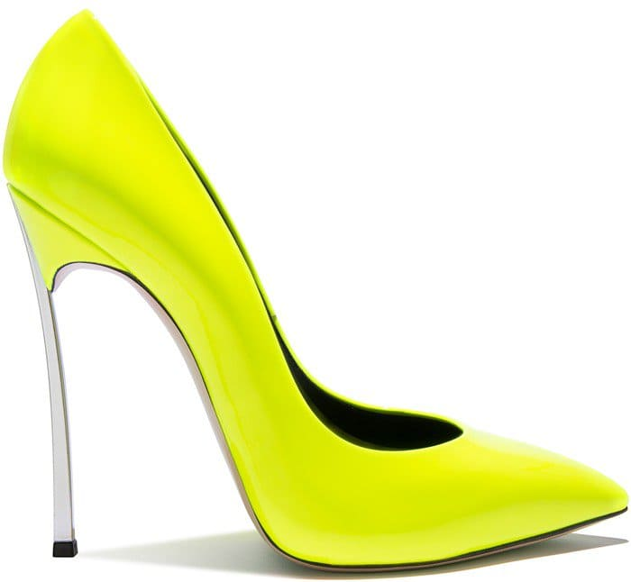 neon-yellow iconic 'Blade' pump