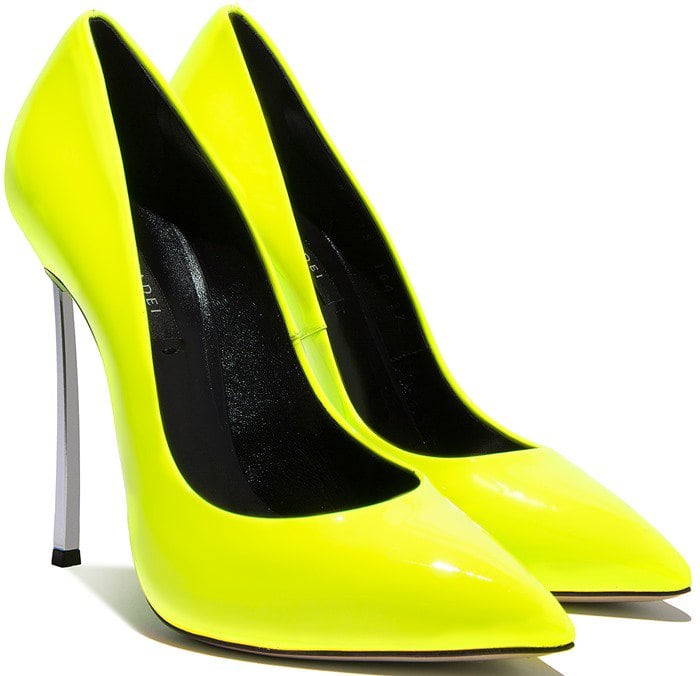 neon-yellow iconic 'Blade' pumps