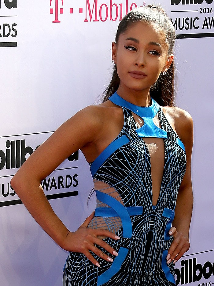 Ariana Grande arriving at the 2016 Billboard Music Awards held at the T-Mobile Arena in Las Vegas, Nevada, on May 22, 2016