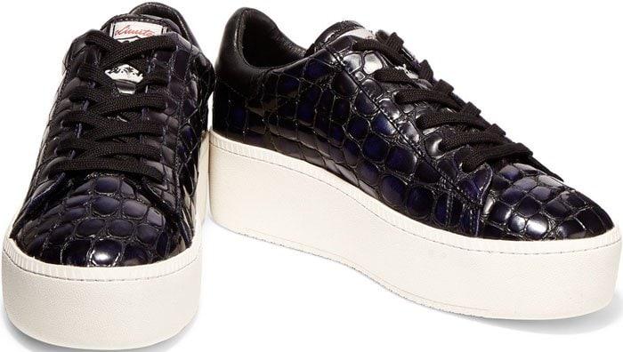 Ash Cult Sneakers Black Croc 1