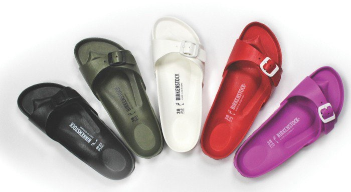 Try a pair of comfortable and supportive Birkenstock sandals