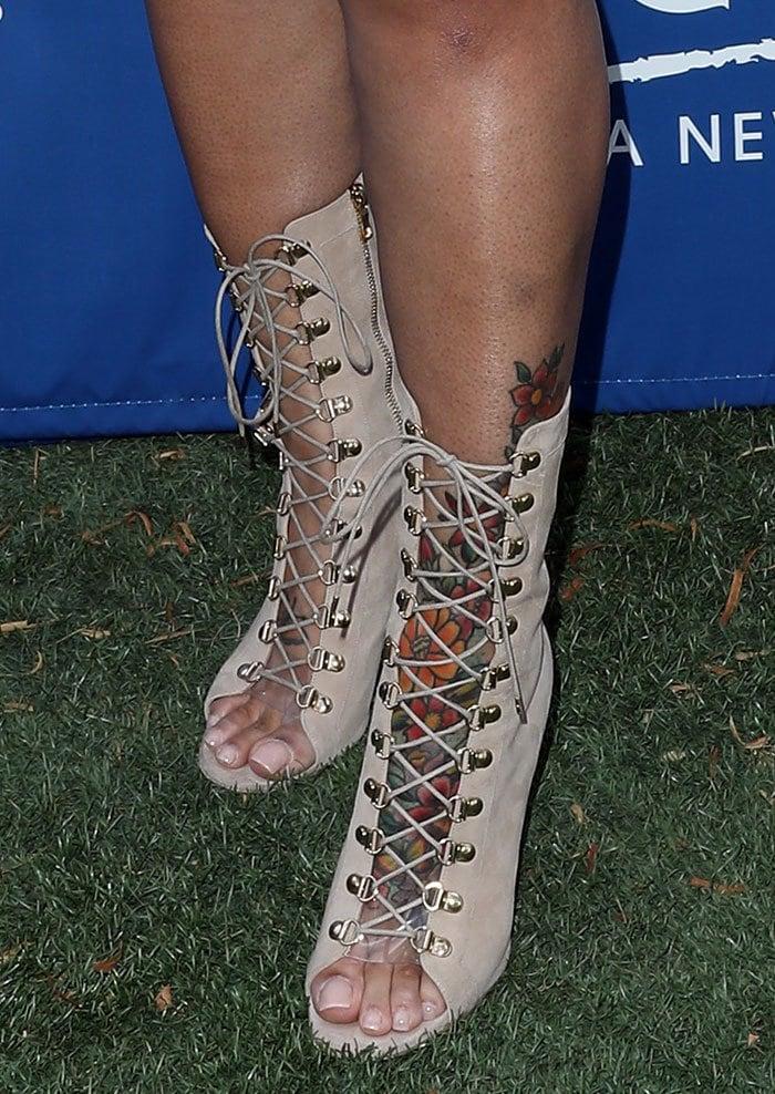 Blac Chyna in Balmain sandal booties