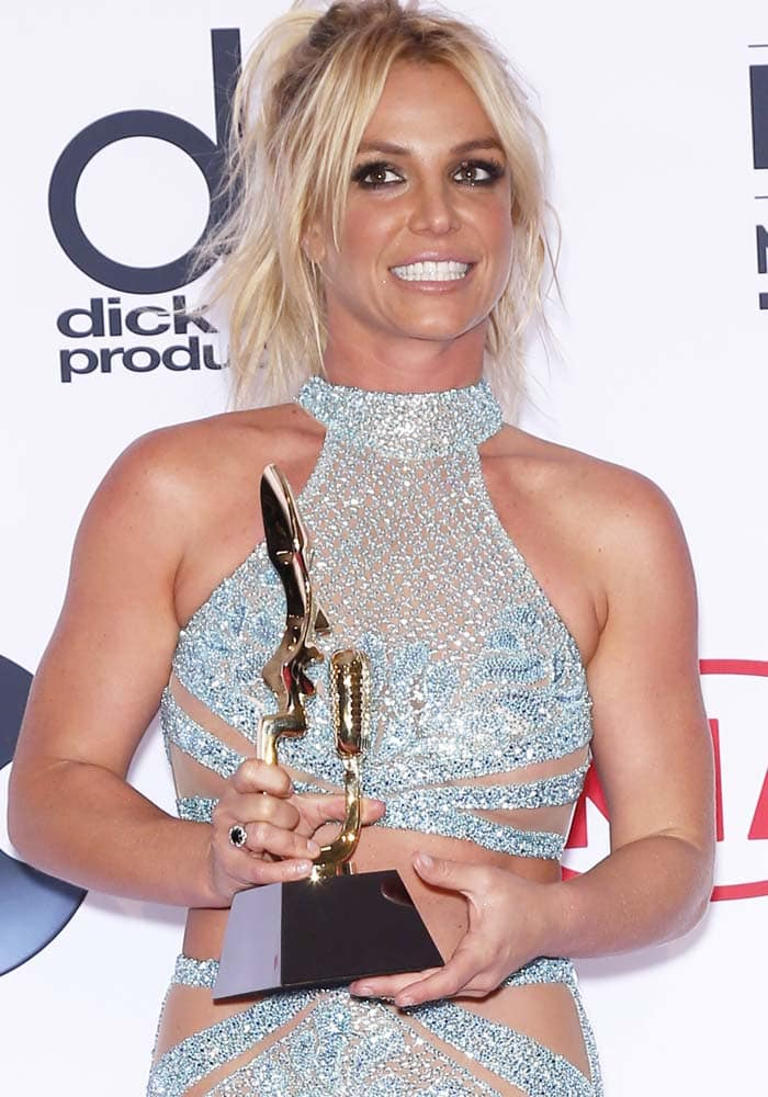 Britney Spears at the 2016 Billboard Music Awards Press Room at T-Mobile Arena Las Vegas on May 22, 2016