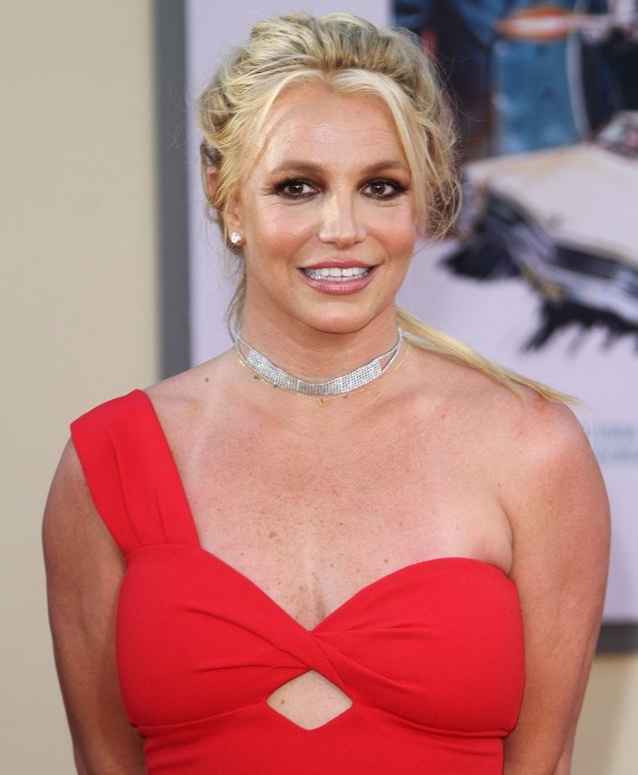 """Britney Spears attends the Los Angeles premiere of """"Once Upon A Time In Hollywood"""""""
