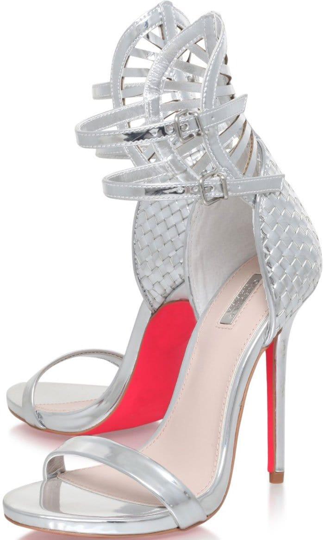 Carvela-Kurt-Geiger-Gander-Silver-Woven-Sandals