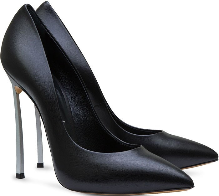 Casadei black leather Blade pumps